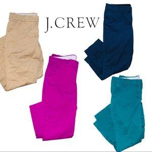 J crew bundle 4 pairs cafe capri pants